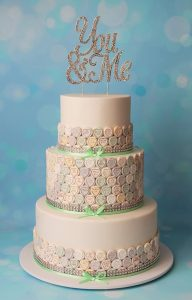 love heart candy wedding cake