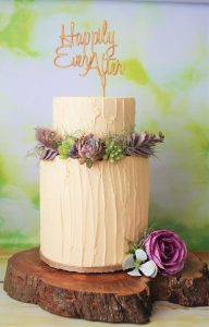 rustic buttercream wedding cake happily ever after
