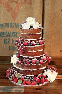 Fruit decoration wedding cake