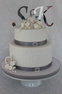 S&K Wedding cake