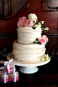 wrapped wedding cake